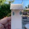 4.20ctw Blue Zircon Dangle Earrings 11