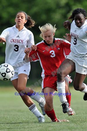 JV Girls Soccer - Mason at Okemos - May 20