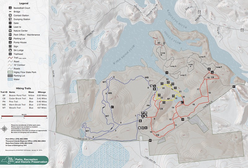 Higley Flow State Park (Winter Map)