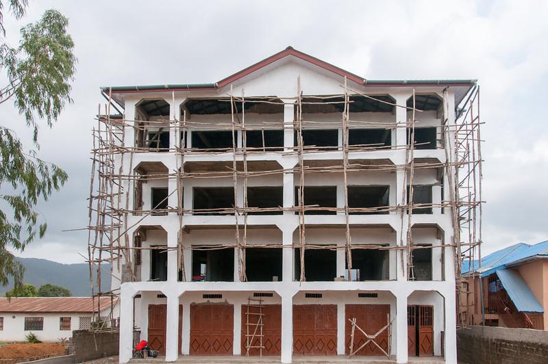 Construction in Freetown, Sierra Leone