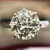 2.03ct Art Deco Transitional Cut Diamond Solitaire 12