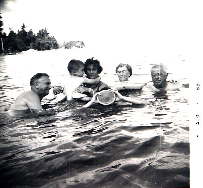 Mom & Dad,Normie, Grandma & Grandpa at black lake.JPG