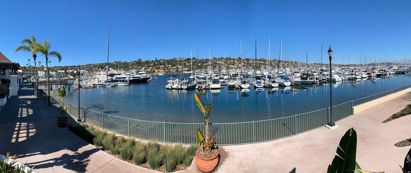 Shelter Island Marina panorama