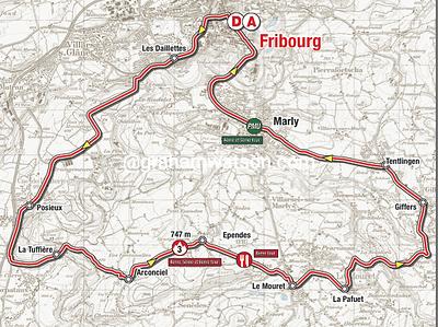 Tour de Romandie:  Stage 4 - Fribourg > Fribourg, 174kms