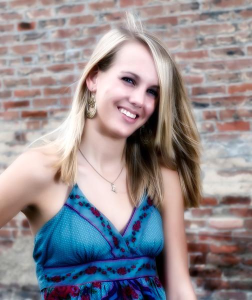 029d Shanna McCoy Senior Shoot - Brick Wall crop (nik glamor glow & softfocus).jpg