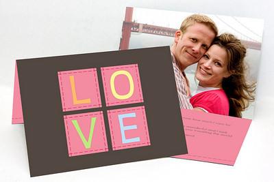 Sample 5x7 Folded Valentine's Day Cards