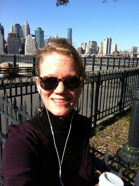 Getting my morning run in along the East River.