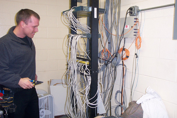 Communications System being Installed