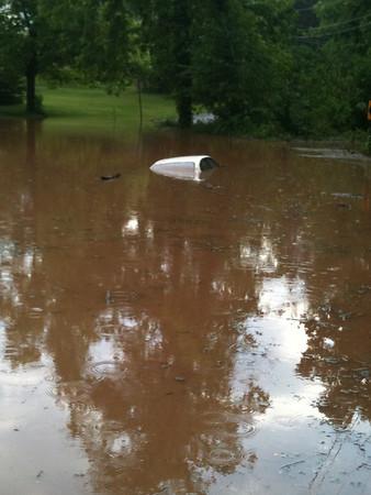 Car Under Water, from Adam Sinton, Ryan Township (5-26-2012)