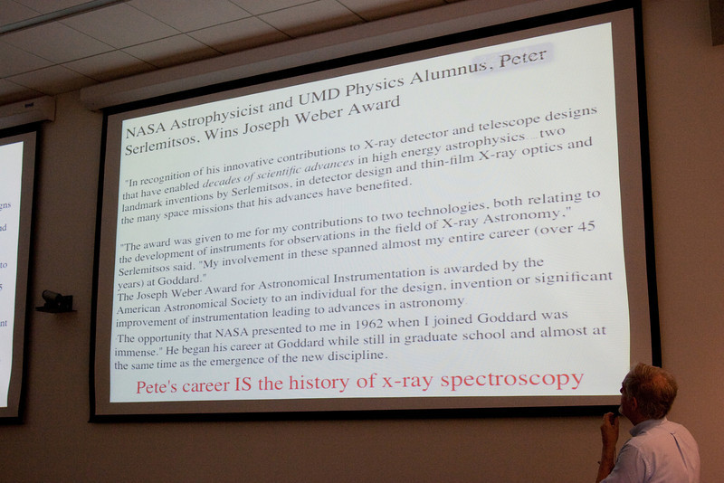 Celebration of Peter Serlemitsos' 50 years at NASA/Goddard Space Flight Center (Sept 2011)