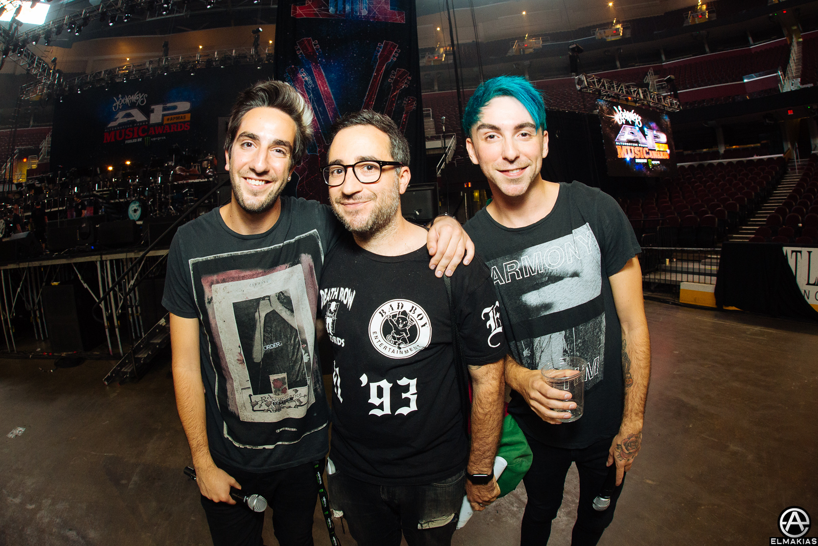 Alex Gaskarth and Jack Barakat of All Time Low at rehearsals for the Alternative Press Music Awards 2015 by Adam Elmakias