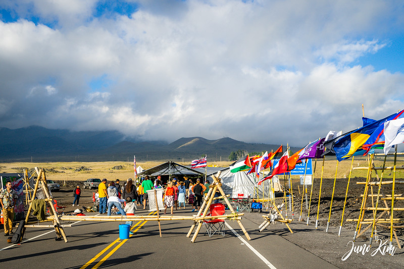 Kahuna tent at the Thirty Meter Telescope protest