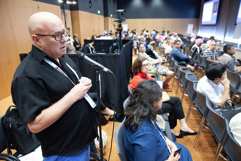 The Netherlands, Amsterdam, 25-7-2018. Meeting of the Asia-Pacific regional department of IAS.Audience and questions.Photo: Rob Huibers for IAS. (Please publish always with complete attribution).