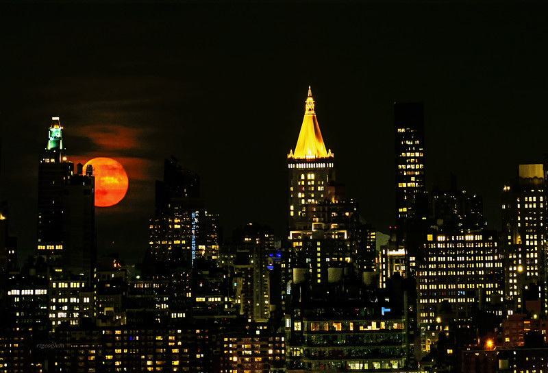 NYC and the Strawberry Moon