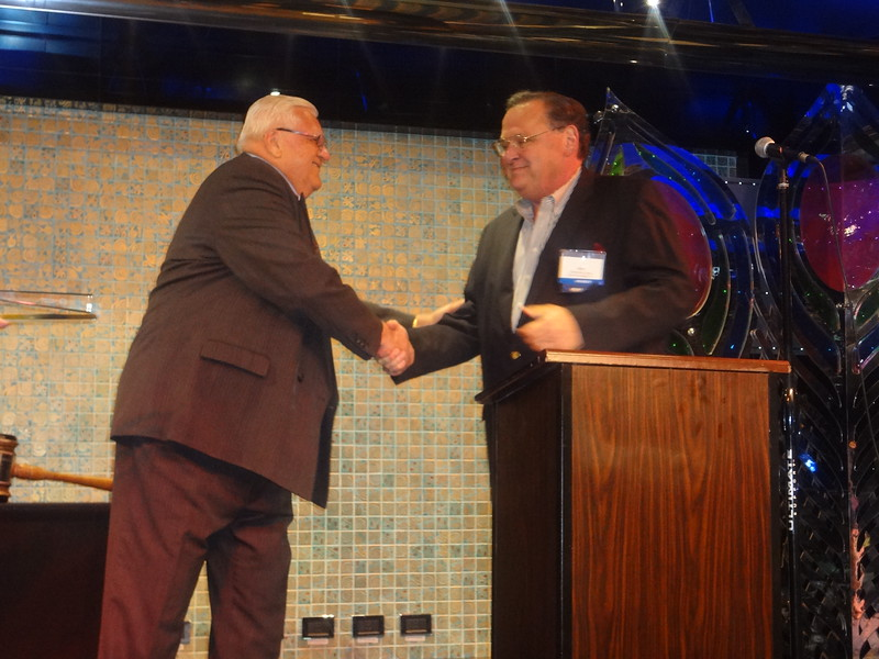 Nick Lioce thanks Bob Driegert for his service to the AAA-CPA