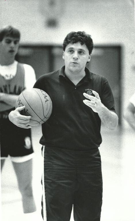 . Undated photo of Oakland men\'s basketball coach Greg Kampe. Oakland Pres file photo
