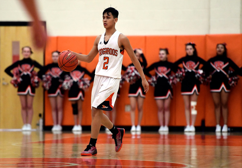 2/15/2019 Mike Orazzi   Staff Terryville High School's Dominick Dao (2) during Friday night's boys basketball game with Housatonic Regional in Plymouth.