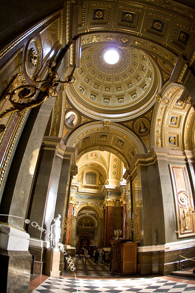 The interior of the Basilica