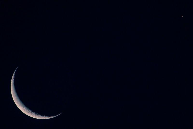 7.10.18 - Eagle Crest: Luna and Aldebaran (in the constellation Taurus)