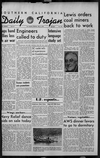 Daily Trojan, Vol. 34, No. 138, May 03, 1943