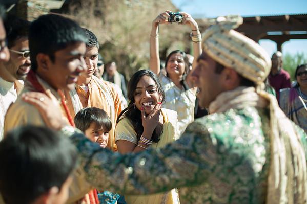 neema + vishal wedding day