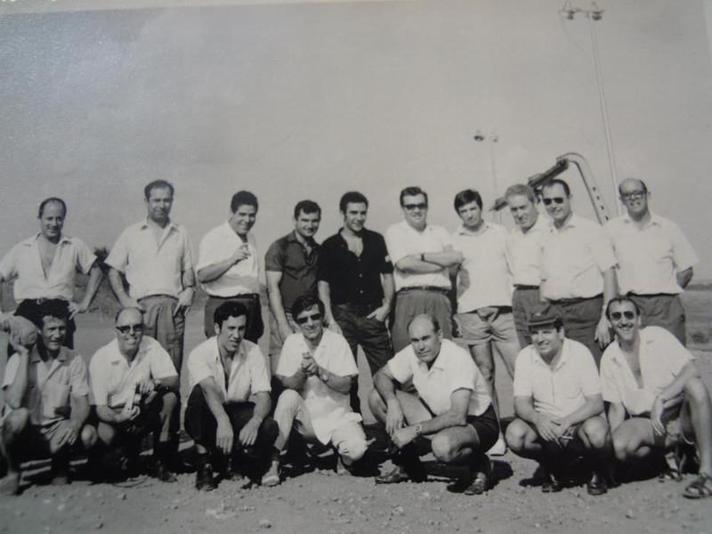 Esqª Cima:-- ?; Pimenta; A.Silva; Claudino Rodrigues; Mil-Homens; Zé Pereira; Beato ;-- ?; Figueiredo.  Esqª Baixo: Amaro; Robalo; --?; Veloso Fernandes; Simão; Jorge Graça; Amável