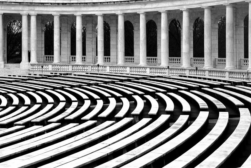 Arlington Cemetery Amphitheater BW.jpg