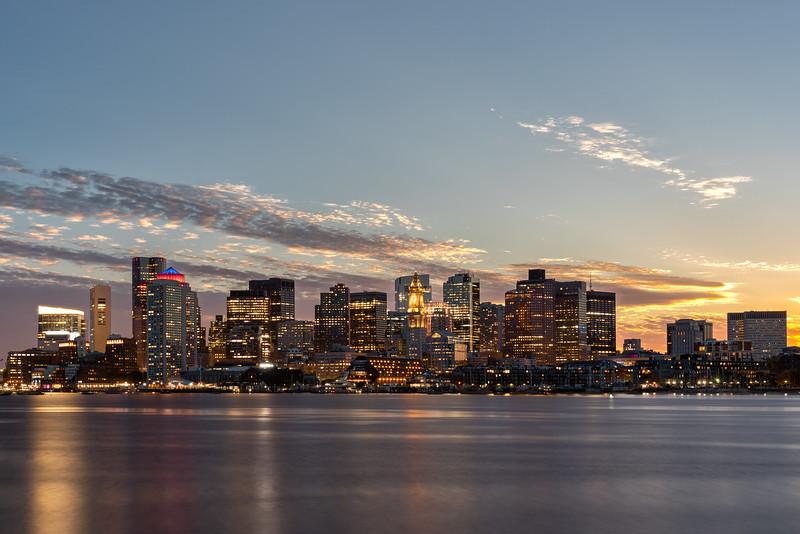 Boston Skyline, Dusk