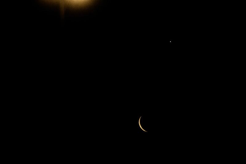 4.2.19 - Prairie Creek Marina: Luna and Venus rising