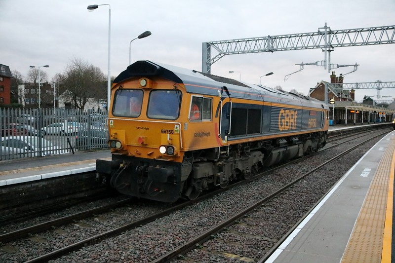 66750 0838/0z50 Toton-Kettering. This then performed several Kettering to Corby and back driver training runs.