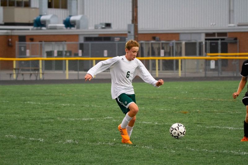 Holy Family Boys Varsity Soccer vs. Hutchinson, 9/26/19: Kaden Dervin '23 (6)