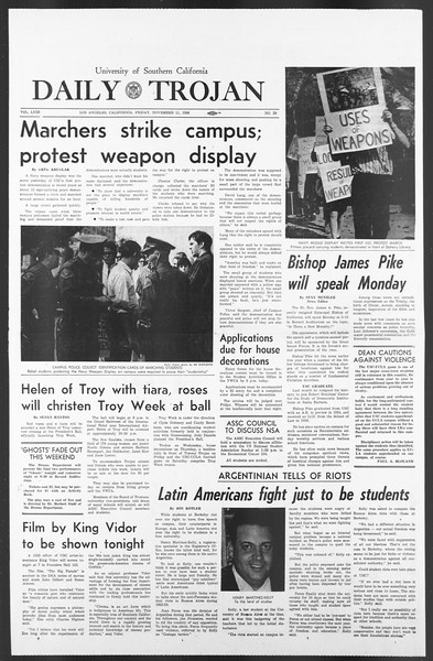 Daily Trojan, Vol. 58, No. 39, November 11, 1966