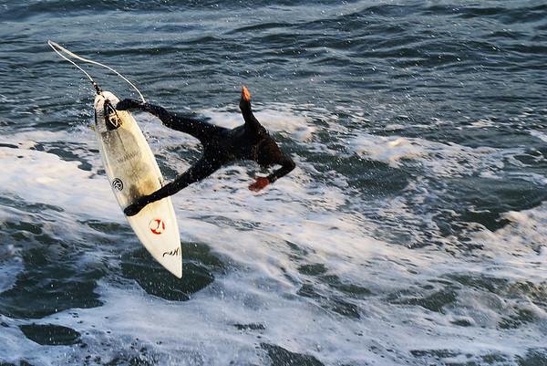 Surfing at Steamer Lane, Santa Cruz, CA