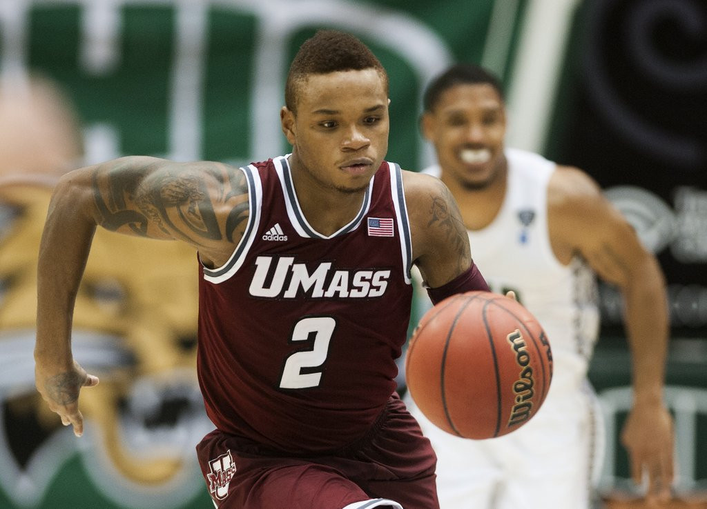 ". <p>8. DERRICK GORDON <p>If he keeps developing his game, could become first openly gay player in the history of the D-League. (unranked) <p><b><a href=\'http://www.twincities.com/sports/ci_25529199/derrick-gordon-massachusetts-basketball-player-reveals-hes-gay\' target=""_blank\""> HUH?</a></b> <p>    (AP Photo/Ty Wright, File)"