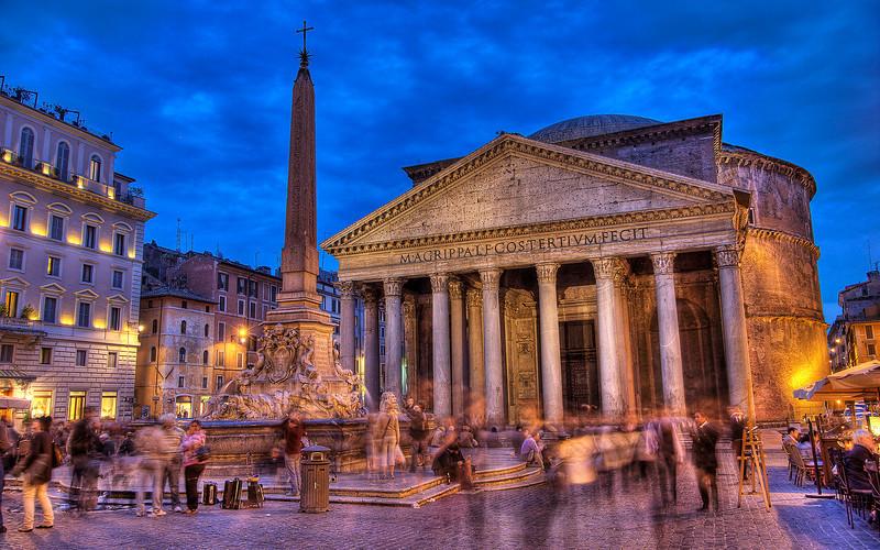 Piazza Rotunda and the Pantheon (HDR Image)