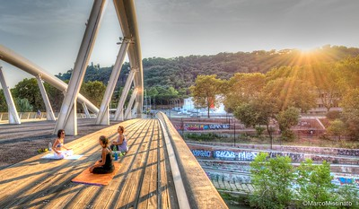 Yoga on the Bridge of Music