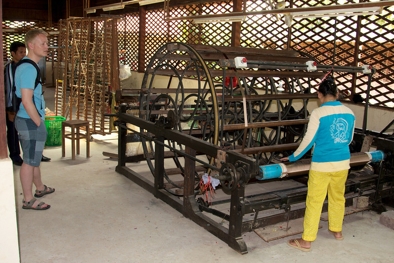 Silk production at Artisans Angkor in Siem Reap, Cambodia
