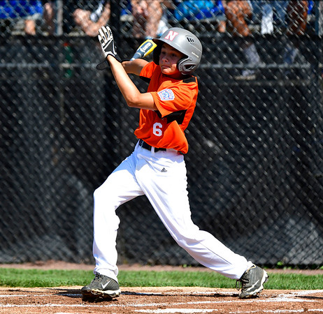 8/4/2019 Mike Orazzi | Staff East Pennsboro Little League's Aaron Angelo (6) during their opening round game of the Little League Mid-Atlantic regional Baseball Tournament in Bristol.