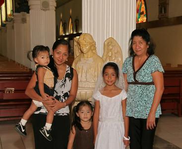 Mt. Carmel Communion 2010 Celebrants and family