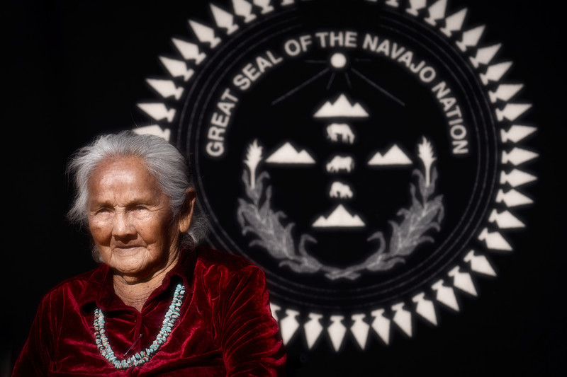 Navajo Female Elder in Monument Valley