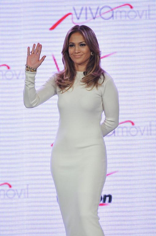 . Recording artist Jennifer Lopez announces Viva Movil by Jennifer Lopez at the Verizon Wireless Press Conference on Wednesday, May 22, 2013 in Las Vegas. (Photo by Jeff Bottari/Invision/AP)