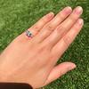 1.19ct Art Deco Carre Cut Diamond Solitaire 10