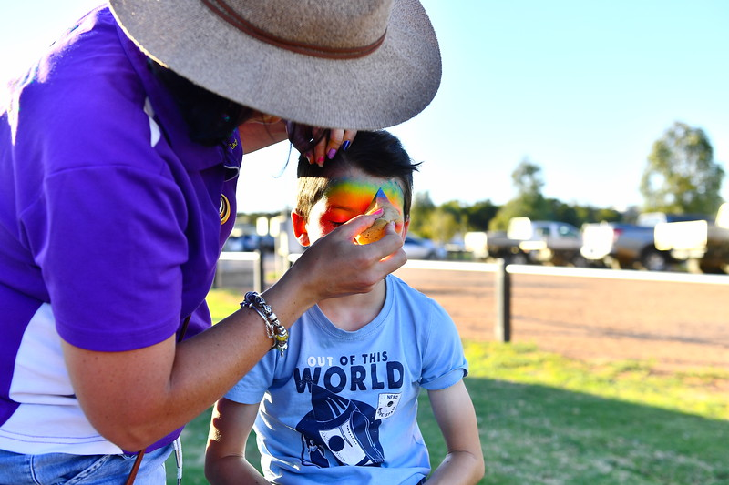 Charity Round Face painting and Sheep