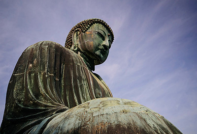 The Great Buddha of Kamakura at the Kōtoku-in temple.