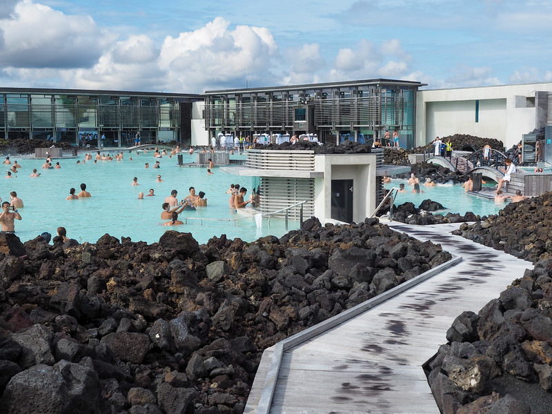 Blue Lagoon in Iceland in summer