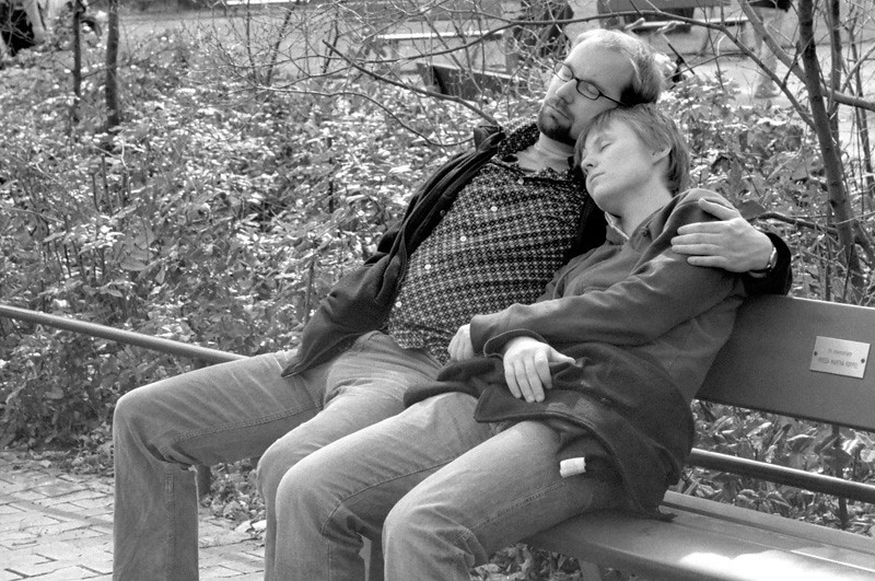 Having some rest in the Berlin zoo (March 2005)