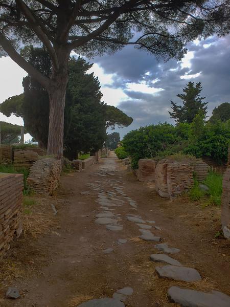 Ostia Antica path