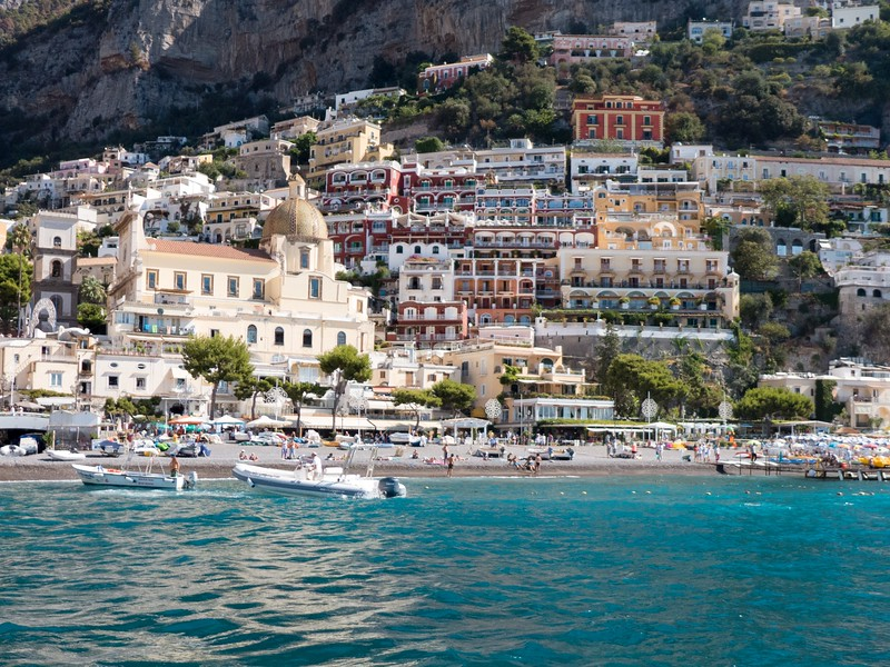 Positano from the water 2