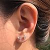 .52ctw Carre Cut Diamond Stud Earrings 8