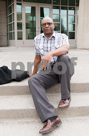 02/26/18 Wesley Bunnell | Staff Al Mayo sits on the steps of New Britain Superior Court on Monday afternoon during a court lunch recess.